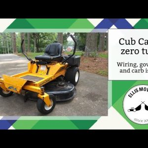 Cub Cadet zero turn Briggs V-twin runs rich, has wiring, charging & governor issues: Let's fix them!