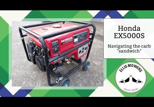 "Honda EM5000S generator carb clean: Navigating the carb ""sandwich"""