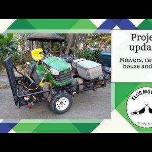 Project updates: Mowers, cars, trees, house and more!