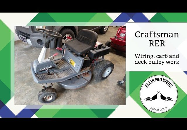 Free Craftsman (Murray) rear engine rider wiring work, new deck pulley, and new carburetor