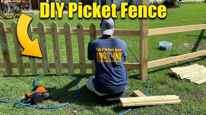 Wood Picket Fence - DIY with Gates