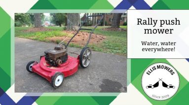Rally push mower that has water in everything!  Can we bring it back to life?